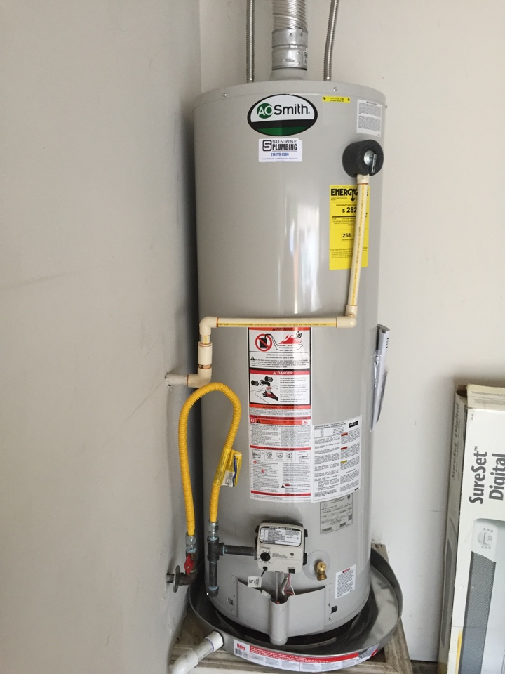 Wylie, TX - Install new 50 gallon gas water heater in garage