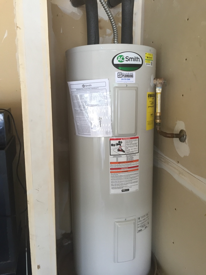 Wylie, TX - Install new 50 gallon electric water heater in garage