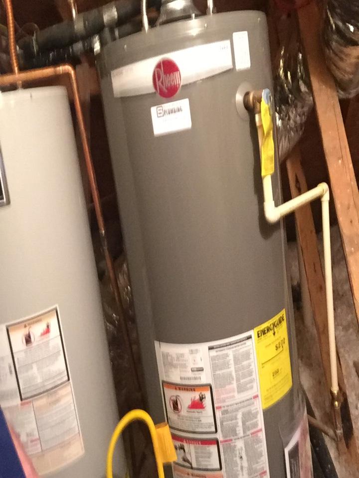 Murphy, TX - Install 50 gallon gas water heater upstairs attic. Murphy plumbers