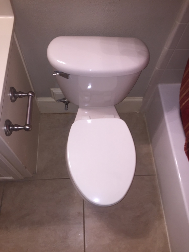 Irving, TX - Install two new Vorten elongated toilet with seat and lid. Irving plumbers