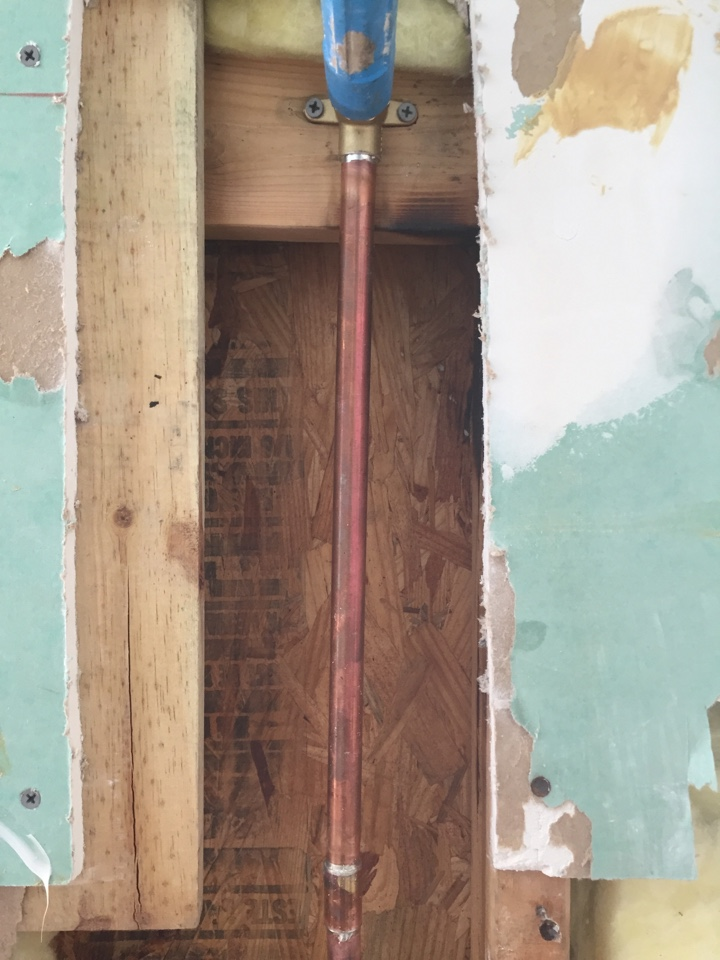 Allen, TX - Water Leak in the wall. Shower arm in master bathroom shower is broken in wall. Install new drop ear 90 in wall with shower arm.