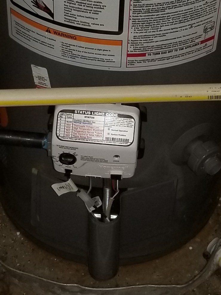 Dallas, TX - No hot water in home. Need repair. Install new gas control Valve and pilot assembly on gas water heater. Dallas plumbers