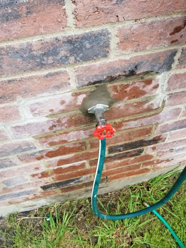 Royse City, TX - Frost proof on right side of home is not turning on. Need repair. Install new homeowner provided Frostproof Fawcett.royse city plumbers