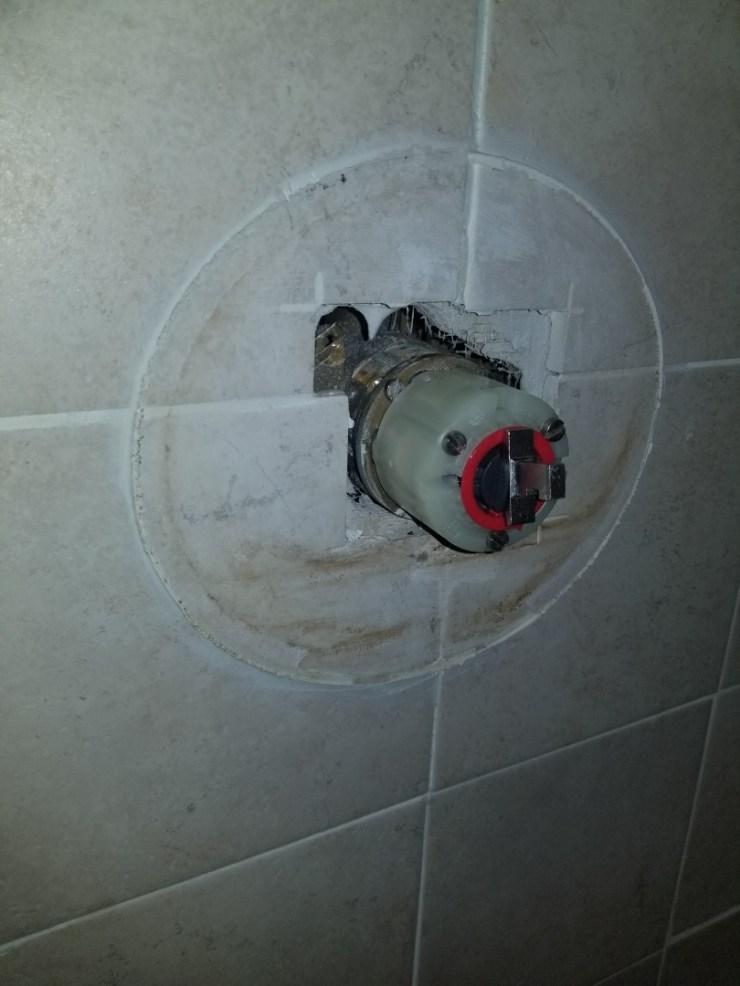 McKinney, TX - Top shower faucet in upstairs bathroom is not getting warm water need repair. Install new American standard cartridge. McKinney plumbers