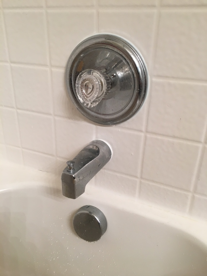 Royse City, TX - Moen posi temp shower has no hot water at shower, need repair. Install new Moen cartridge in shower valve.