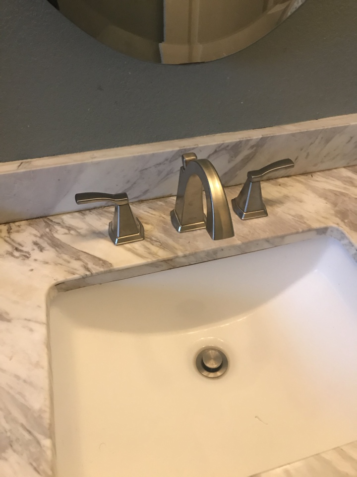 Rowland Heights, CA - Alpine plumbing replaced bathroom faucet supplied by owner in hacienda heights.