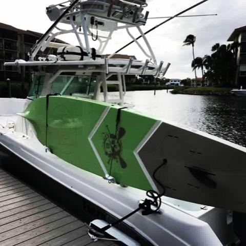 Jupiter, FL - Whether going to the sandbar or going fly fishing, Manta Racks transports our paddleboards securely.
