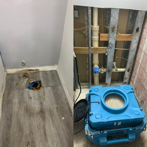 Parkland, FL - Before and after picture mold removal being done in your area by our expert techs.