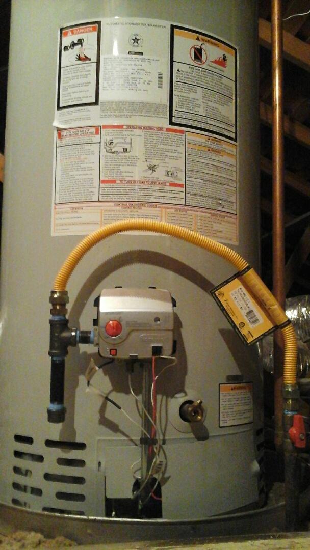 Dallas, TX - Water heater in attic