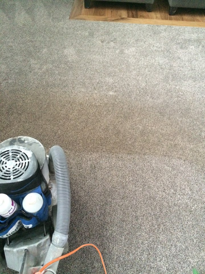 Ogden, UT - Carpet cleaning in South Ogden, Utah. Cleaning for a regular customer that works for Harris Research. Has a dog that had a couple accidents.  We used PURT and you can't even tell there were any spots.