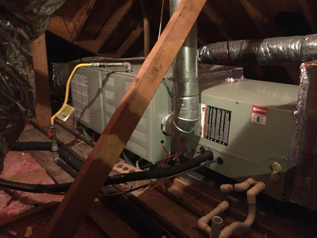 Houston, TX - Servicing a furnace in Houston, TX