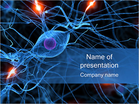 Medical PowerPoint Templates   Backgrounds  Google Slides Themes     Active Nerve Cell PowerPoint Template