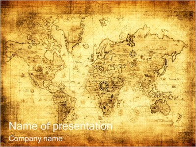 Old Map PowerPoint Template  Backgrounds   Google Slides   ID     Old Map PowerPoint Template
