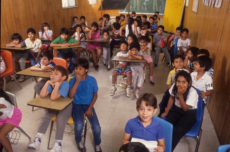 Classroom in Edgewood ISD, San Antonio, Texas, in 2010. Photo by Bob Daemmrich