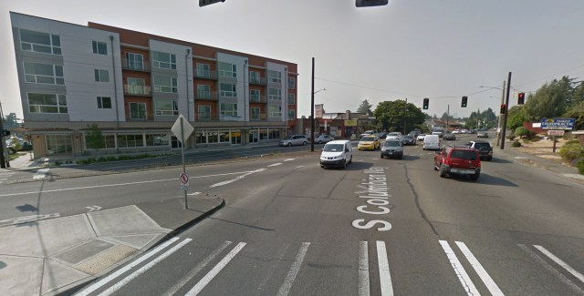 Looking west across the current 15th/Columbia intersection.