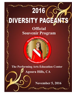 2016 Diversity Pageants Official Souvenir Program