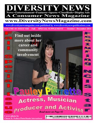Diversity News Magazine Special Summer and Fall 2014 - Featuring NCIS Star Pauley Perrette
