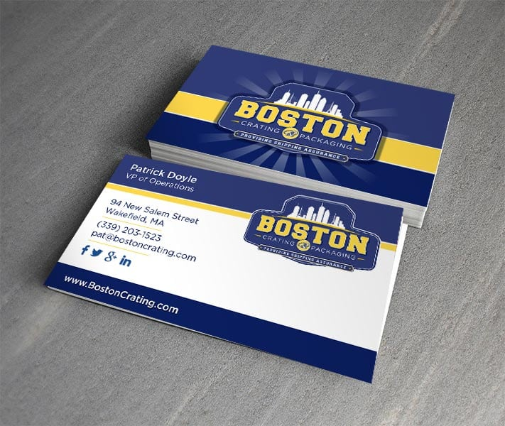 Boston Crating Business Cards | Print Design | Graphic Design