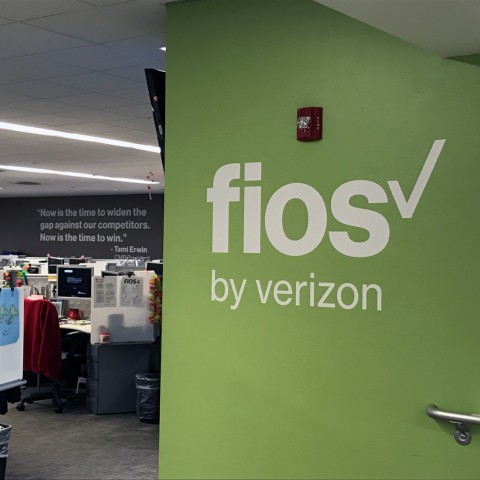 Fios by Verizon   Wall Lettering