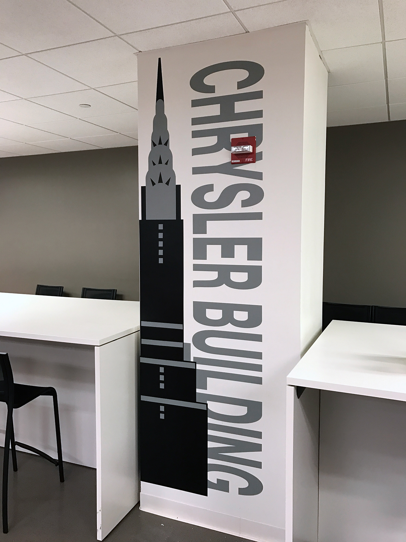 Chrysler Building Column Wrap