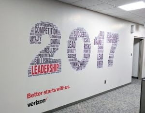 Verizon Philadelphia 2017 Wall Graphic | Large Format and Display | Boston, Medford