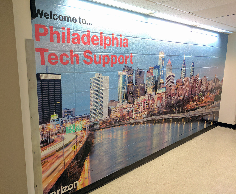 Verizon Philadelphia Tech Support Mural