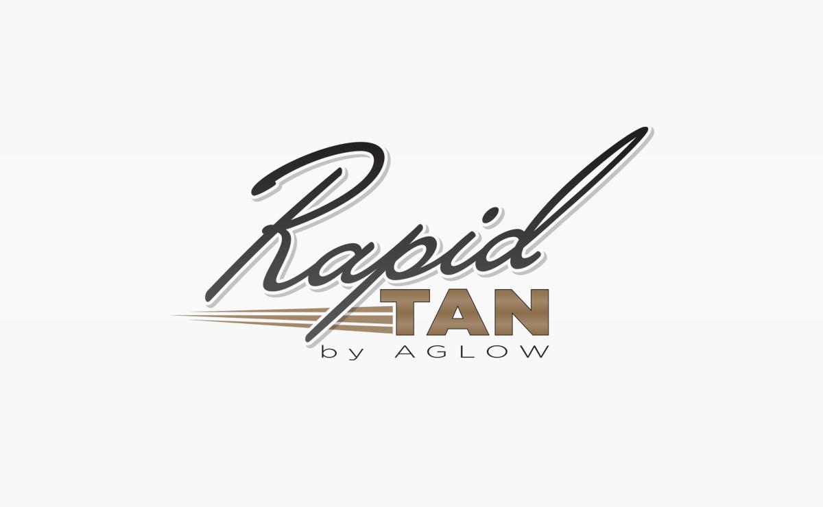 Rapid Tan by Aglow   Logo Design   Medford, Boston, MA