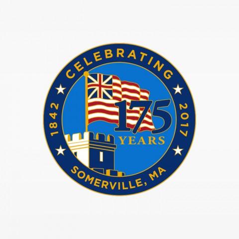 City of Somerville 175th Anniversary Circle Logo