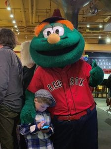 Wally of the Boston Red Sox and Nicholas
