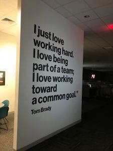 Interior Wall Graphics at Verizon's Taunton, MA Office