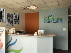 Advanced Pain Relief Clinic Internal Signage