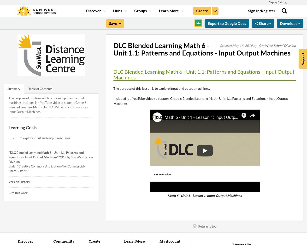 Dlc Blended Learning Math 6
