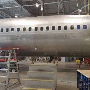 Communications breakdown led to aluminum skin pitting on this 737 fuselage