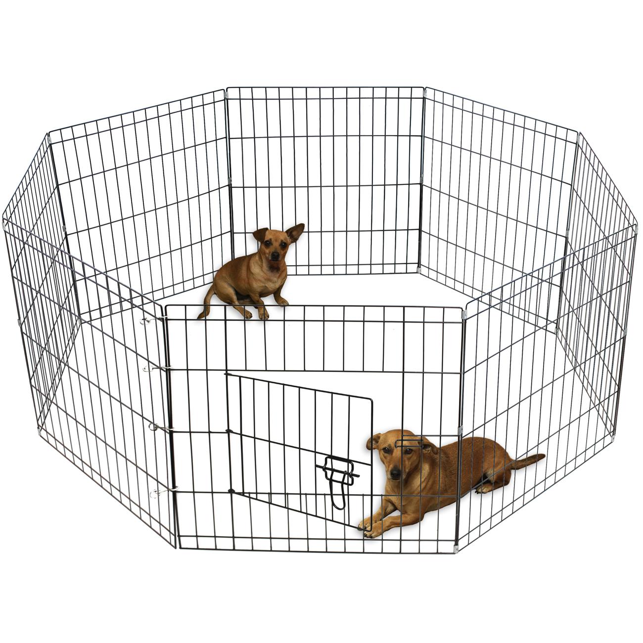 Oxgord Metal Wire Adjustable Pet Playpen
