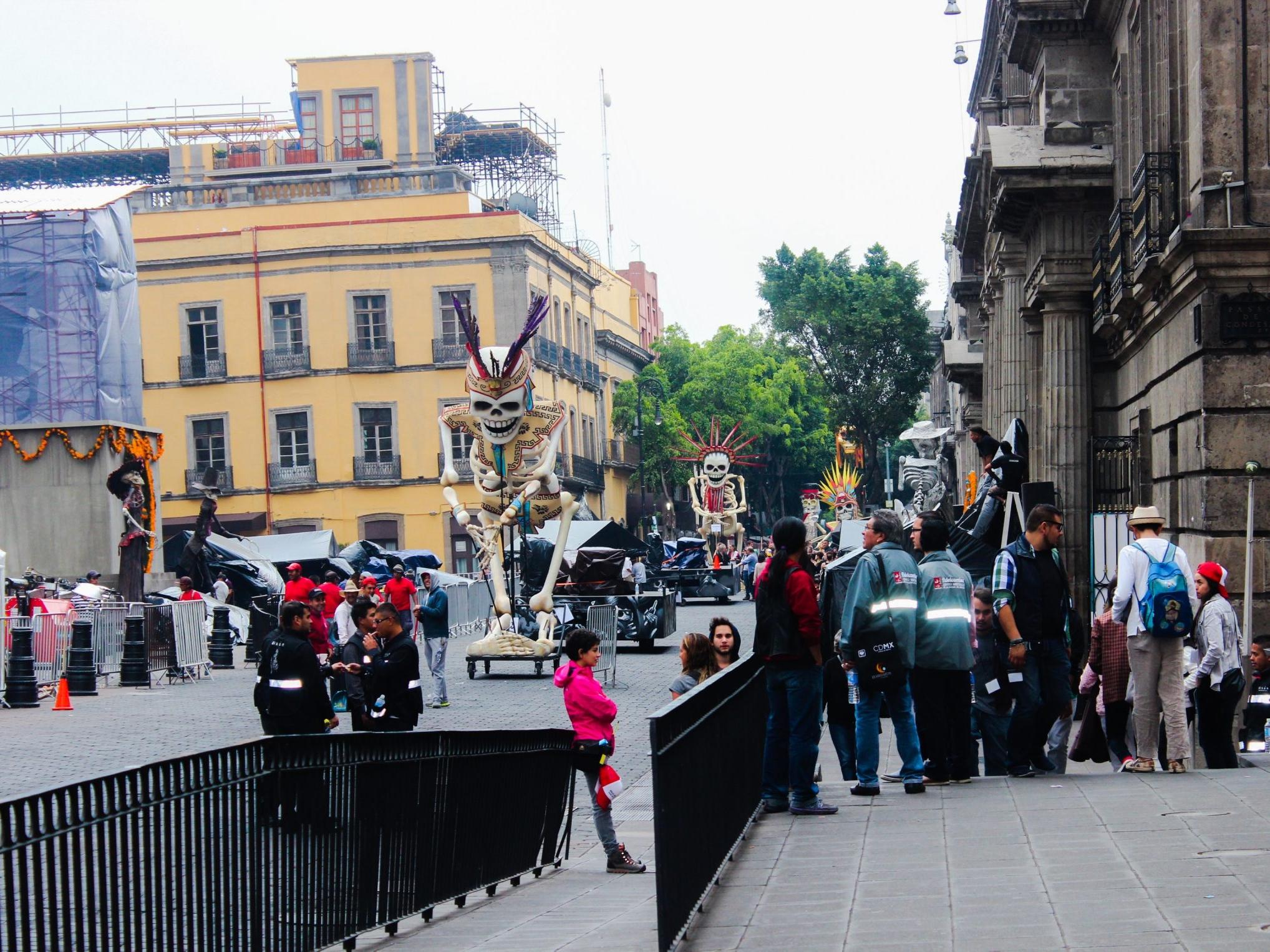 Calles del Centro Histórico reabrirán el miércoles tras filmación de 'Spectre' 007