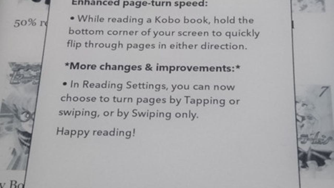 Kobo Firmware Update v4 8 10956 Adds Fast Page Flip, New