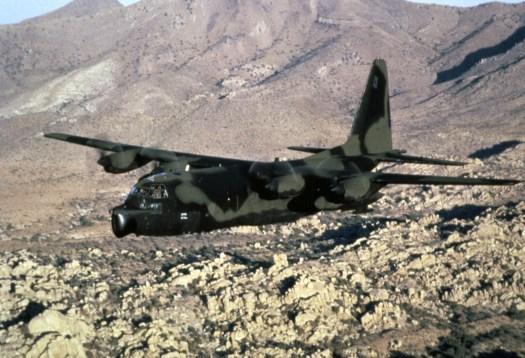 An MC-130E Combat Talon in flight in 1991.