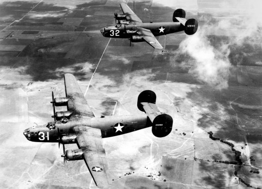 Modified B-24 Liberators, similar to these standard bombers, were among the U.S. military's first special operations transports.