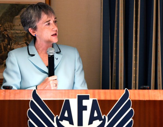 Secretary of the Air Force Heather Wilson speaks at another AFA event in June 2017.