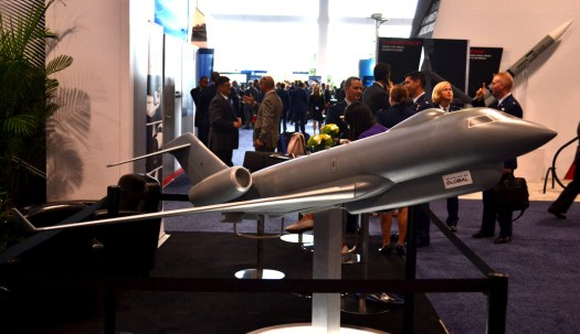 Bombardier's model of the same proposed aircraft.