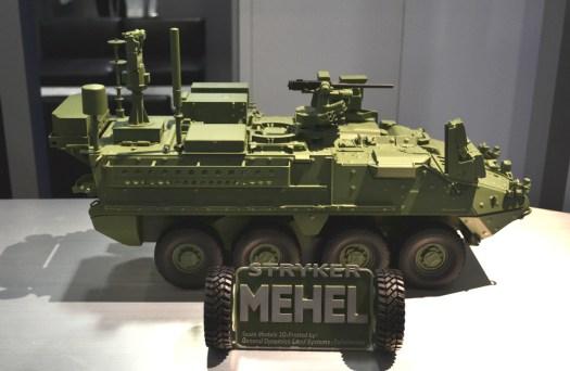 A model of the Stryker MEHEL.