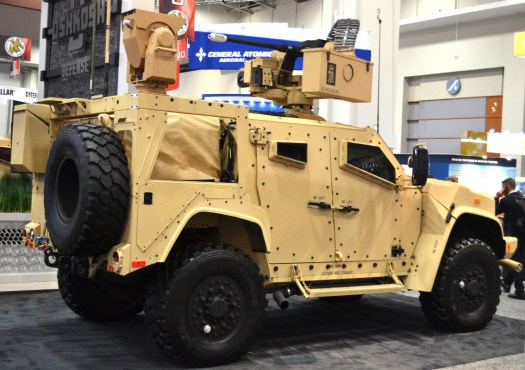 A JLTV with the M230LF cannon.