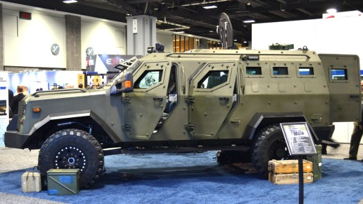 IAG's Sentinel armored personnel carrier.