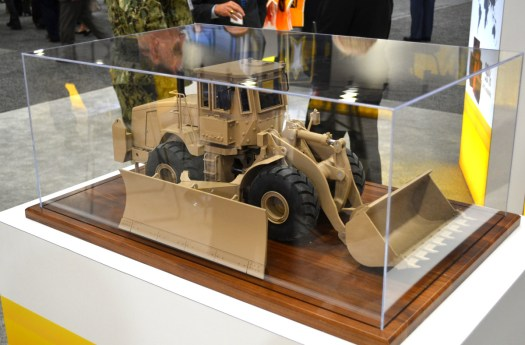 The model of Caterpillar's militarized front-end loader.