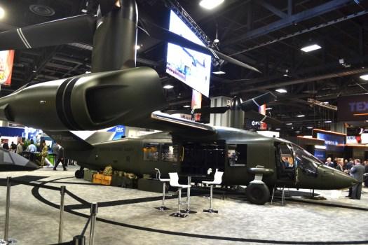 A mockup of Bell Helicopter's V-280 Valor.