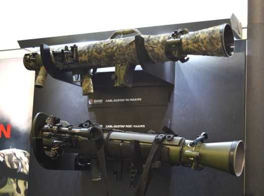 Saab's M3 and M3E1 recoilless rifles.