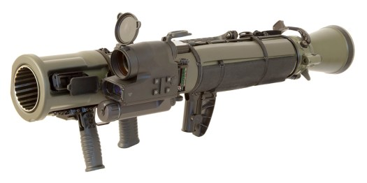 An M3E1 recoilless rifle with a computerized sighting system.