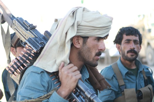 Afghan Uniformed Police during an operation in 2013.
