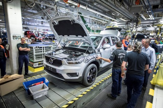 The first XC40s began rolling off the assembly line in Ghent, Belgium on November 22