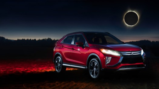 And you thought you'd see a total solar eclipse before you saw a new Mitsubishi